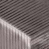 Festliche Wachstischdecke Stripe | zinnfarben glänzend | abwaschbar | Meterware (1000x137cm)