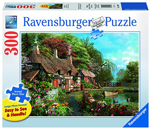 Ravensburger Cottage On A Lake Large Format Jigsaw Puzzle (300 Piece)