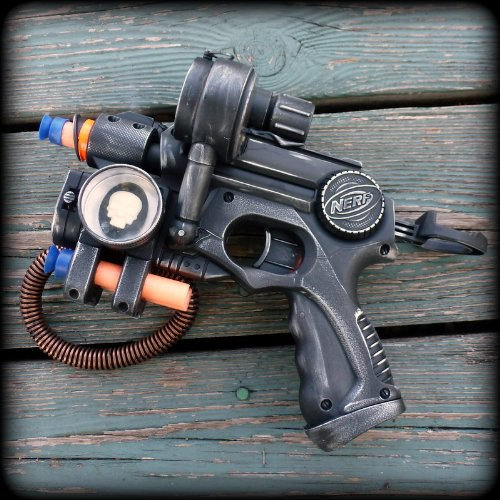 Steampunk gun Victorian Nerf N-Strike Zombie Fall Out Soft Dart toy-NG1