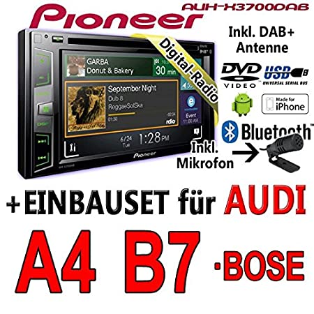 Audi a4 b7 pioneer aVH-x3700DAB - 2DIN autoradio multimédia avec bluetooth/dAB/dAB + applications-antenne de montage