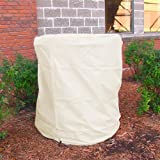 Sunnydaze Beige Outdoor Water Fountain Cover, 38 Inch Diameter, 42 Inch Tall