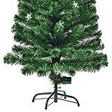 Beleuchteter-Weihnachtsbaum-150cm-Knstlicher-Christbaum-Geschmckt-mit-160-Lichter-Spitzen-und-Stnder-fr-Weihnachten-Tannenbaum-Weihnachts-Deko-von-encasa