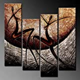 Phoenix Decor-【Large Size -love Song】 Elegant Modern Canvas Art for Wall Decor Home Decorations-abstract Oil Paintings for Wall Decorations Home Decor Framed Canvas Wall Art Ready to Hang Abstract Paintings on Canvas for Wall