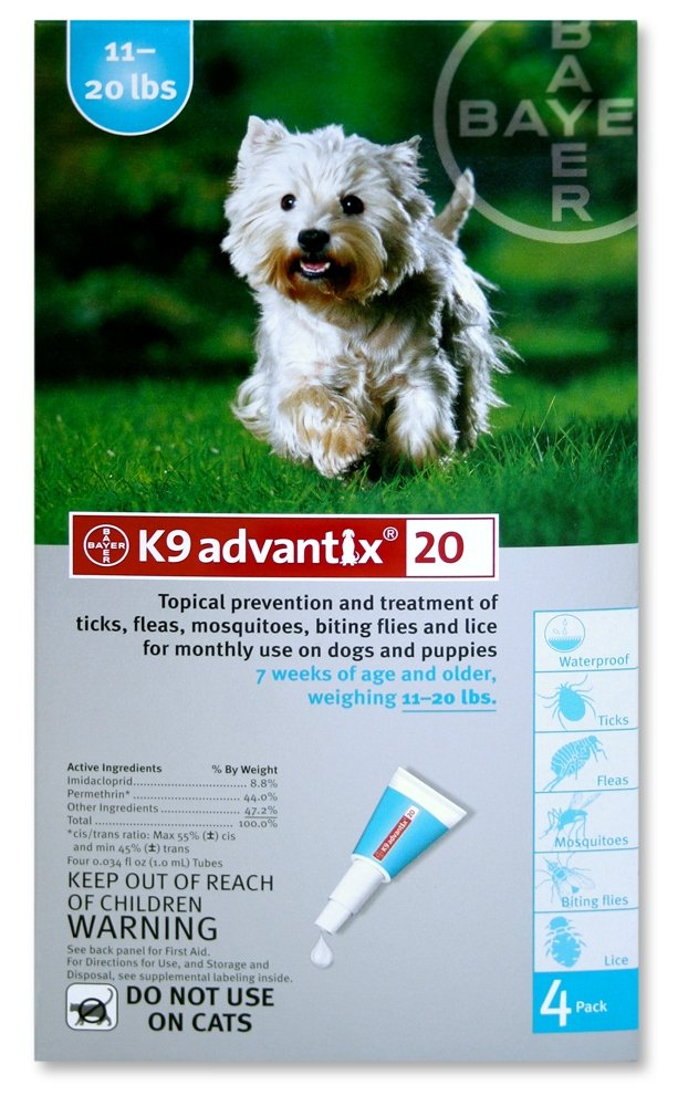 Amazon.com : K9 Advantix Flea Control for Dogs 11-20 Pounds (4 ...