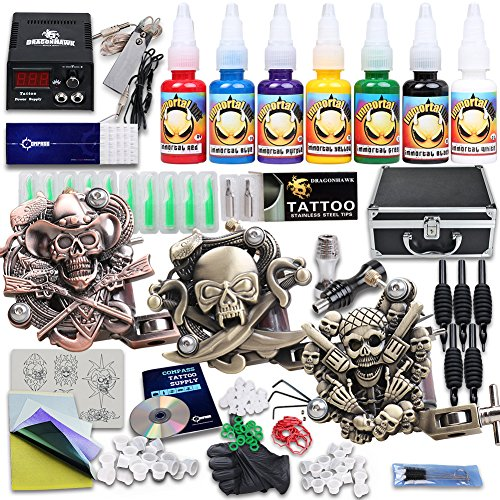 yudo-complete-tattoo-kit-3-pro-machine-guns-7-inks-power-supply-foot-pedal-needles-grips-tips-kt-3eu