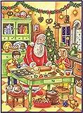 Santa and Children Baking German Christmas Advent Calendar Countdown Germany