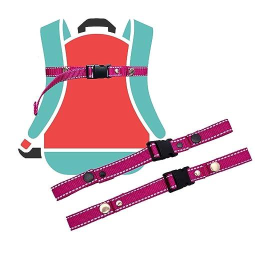 GURTIES Brustgurt Schulranzen pink Reflektor