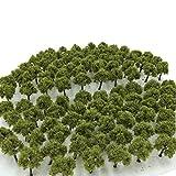 森林 選べる 色 数量 50本 100本 【DauStage】 Nゲージ ジオラマ 鉄道 建築 模型 用 樹木 風景 3㎝ (02,深緑 50本)
