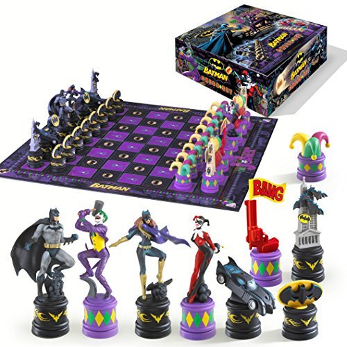 Batman Dark Knight vs The Joker Chess Set by Noble Collection (Detailed Chess Set compare prices)