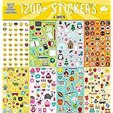 Year Round Sticker Assortment Set (1200+ Count) Collection for Children Teacher Parent Grandparent