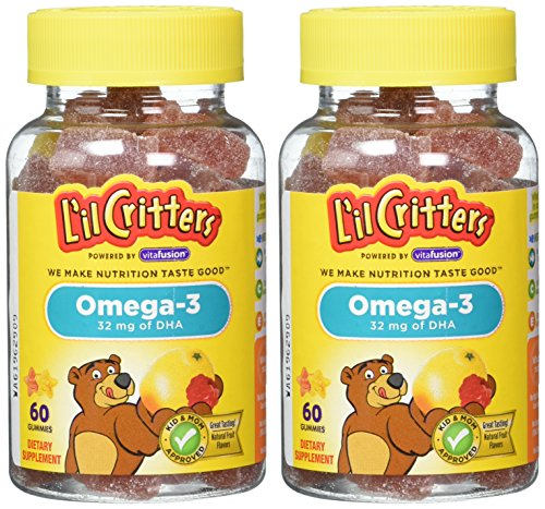 L'il Critters Omega-3 DHA, 60 Count (Pack of 2) (Child Omega 3 compare prices)