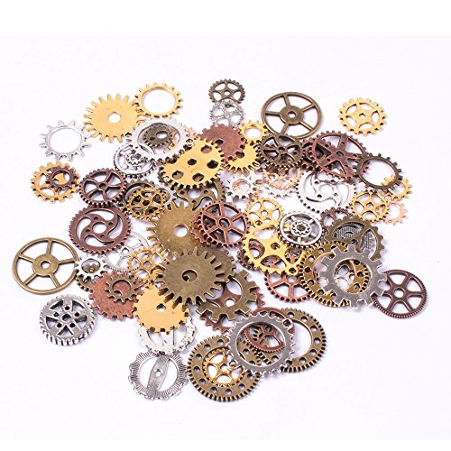teenitor-mixed-color-100-gram-approx-70pcs-assorted-antique-steampunk-gears-charms-pendant-clock-wat
