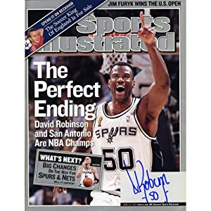Buy David Robinson San Antonio Spurs Autographed Perfect Ending Sports Illustrated - Memories - Mounted... by Sports Memorabilia
