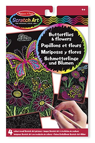 Melissa-Doug-Colour-Reveal-Scratch-Art-Pictures-Butterflies-Flowers