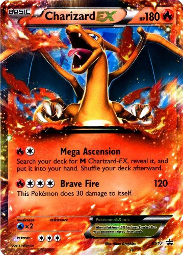 Pokemon XY Card Game Single Holo Promo Card Charizard-EX OVERSIZED by Pokemon Center - 1