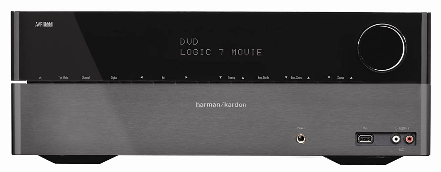 Harman Kardon AVR 1565 5.1-channel, 70-Watt Audio/Video Receiver with HDMI v.1.4a ,3-D $179.99