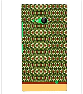 PrintDhaba Circular Pattern D-1532 Back Case Cover for NOKIA LUMIA 730 (Multi-Coloured)