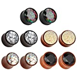 Double Flare Stone Plugs Gauges Lobal Domination All 5 Pair 8g Through 1 Available