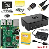 CanaKit Raspberry Pi 2 Complete Starter Kit (Raspberry Pi 2 + WiFi + 8GB SD Card + Case + Power Supply + HDMI Cable)