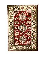 L'Eden del Tappeto Alfombra Uzebekistan Super Rojo / Beige 148  x  99 cm