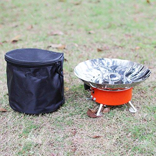 Mzamzi - Gran valor grill shelf estufa a prueba de viento al aire libre que acampa portable