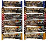 KIND BARS Super Variety Pack,2 of each 6 Different Flavors, 1.4oz bars (12-PACK)-(2 Cranberry Almond+Antioxidants, 2 Peanut Butter Dark Choc.+Protein, 2 Blueberry Pecan+Fiber, 2 Almond Walnut Macadamia+Protein, 2 Almond Apricot, 2 Dark Choc. Cherry Cashew+Antioxidants)