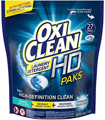 Oxiclean Laundry Detergent HD Pack, Sparkling Fresh Scent, 27 Count (Oxi Clean Subscribe And Save compare prices)