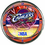 NBA Cleveland Cavaliers Chrome Clock