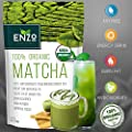 Green Tea Powder - MATCHA - ORGANIC - HIGH FIBER - Tea - Long-lasting Energy - Boost Skin Health Anti-Aging - Coffee Substitute - 137x Natural ANTIOXIDANTS - Promote Brain Cells - Boost Metabolism - Natural Detox - Unmatched Taste - 100% Organic Certified