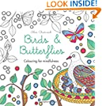 Birds & Butterflies: Colouring for mi...