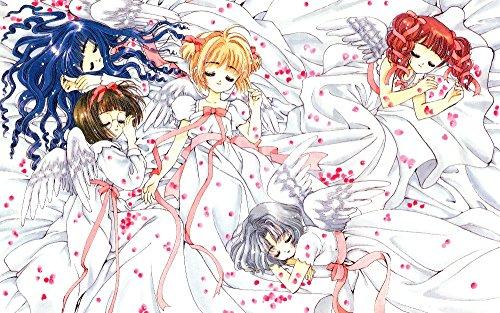 [Kelly Carrillo Cardcaptor Sakura Anime Posters Sunfire Blue Exorcist Photo Angel Costume Girl Painting Wall Decoration Poster Bedroom] (Fantasy Life Angel Costume)