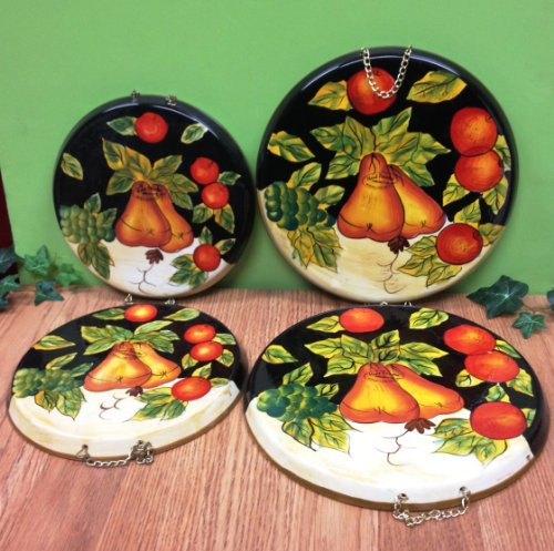 Winter Fruit, Set Of 4 Stove Covers, 85955 By Ack back-544765