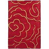 Safavieh Soho Collection SOH812A Handmade Red New Zealand Wool Area Rug, 2 feet by 3 feet (2' x 3')