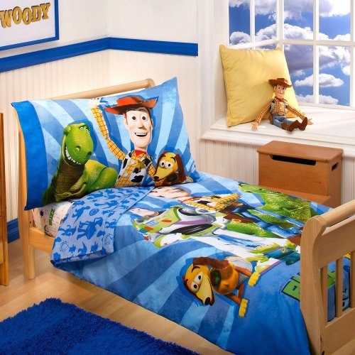Toy Story Toddler Bed.Toy Story Toddler Bedding Set 4pc Disney Woody Buzz