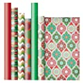 Jillson Roberts Christmas Gift Wrap in Assorted Designs, Glitter and Glimmer (XRW009)