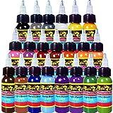 Solong Tattoo New Design 21 Basic Colors Tattoo Ink Set Pigment Kit 1oz (30ml) Professional Tattoo Supply for Tattoo Kit TI301-30-21X