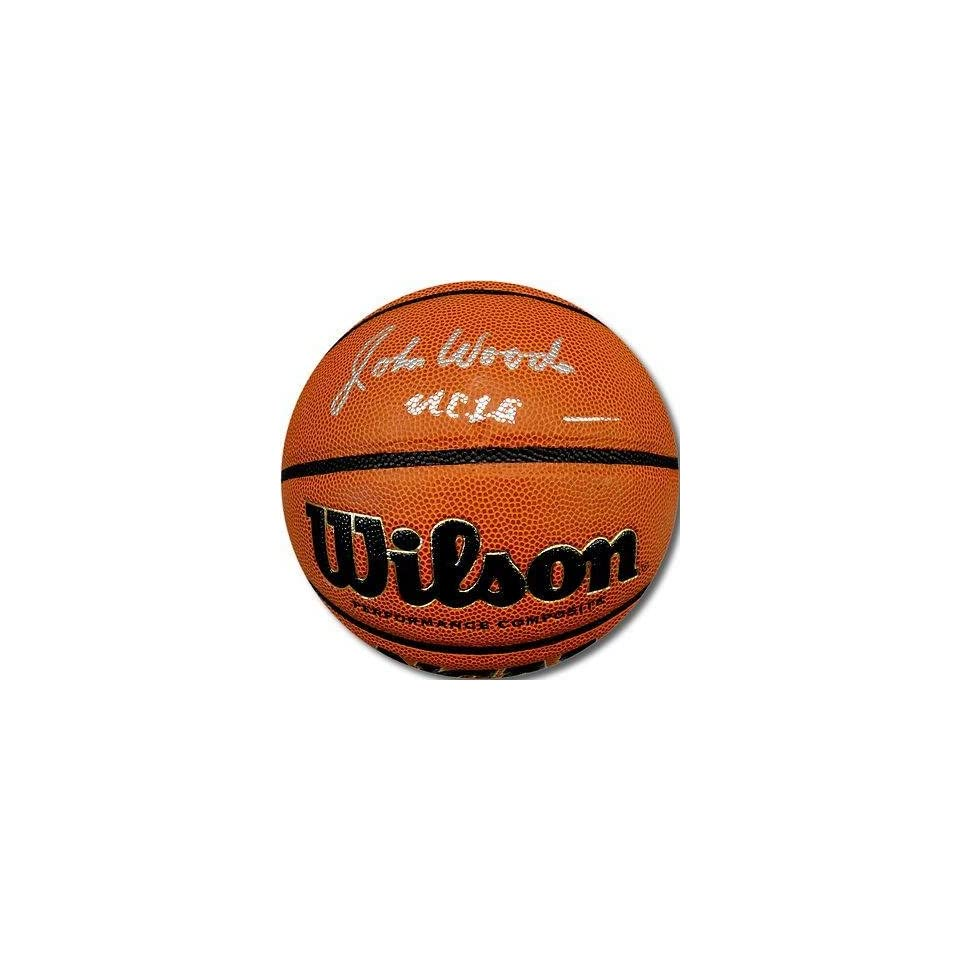 John Wooden Hand Signed Autograph Wilson NCAA Competition Basketball Ball UCLA   Autographed College Basketballs