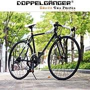 DOPPELGANGER(ドッペルギャンガー) 423-BK obelisk 700x23C ロードバイク【ホリゾンタルフレーム】シマノ 14段変速 52-42T リジッドフォーク スタンド付 Liberoシリーズ