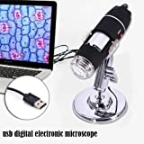 Per Digital Microscope USB Portable Magnifier 1600X Mini Camera Mac/Windows Pc Android Phone (Color: Black)
