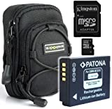 Bundlestar * Bundle Kit BAXXTAR NEW black Digital Camera Bag Case + High Quality Battery for Panasonic DMW-BCG10 + Kingston Technology 16GB Micro Secure Digital High-Capacity Class 10 Flash Card for Panasonic Lumix DMC TZ30 TZ25 TZ22 TZ20 TZ18 TZ10 TZ8 T