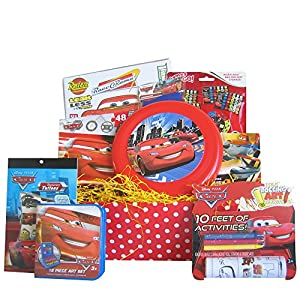 Disney Pixar Cars Activity and Art Gift Basket, Great for Boys and Girls 3-8