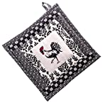 Black And White Rooster Pot Holder