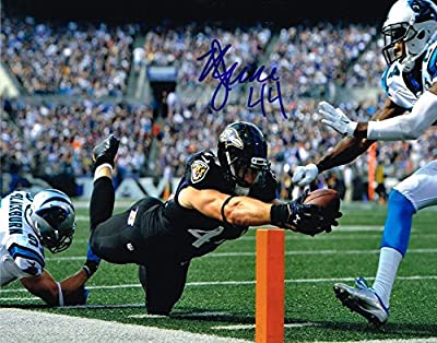 Kyle Juszczyk AUTOGRAPHED DIVING 8x10 PHOTO BALTIMORE RAVENS COA SIGNED