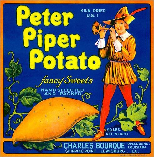Reproduction sur toile 90 x 90 cm: Peter Piper Potato - Reproduction prête à accrocher, toile sur châssis, image sur toile véritable prête à accrocher, reproduction sur toile
