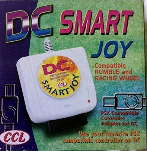 mentalKase ® Dreamcast Smart Joy PSX Controller Adapter/Adaptor. Use Playstation PS/PSX Controllers/Steering Wheels on Dreamcast! Acts as 6ft DC Extension Cable. Same as EMS Total Control 2 3 (Dreamcast Controller Extension compare prices)
