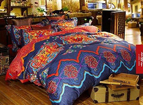Cliab Boho Bedding Bohemian Bedding Moroccan Bedding Full 100% Egyptian Cotton Duvet Cover set (Moroccan Bedding Full compare prices)