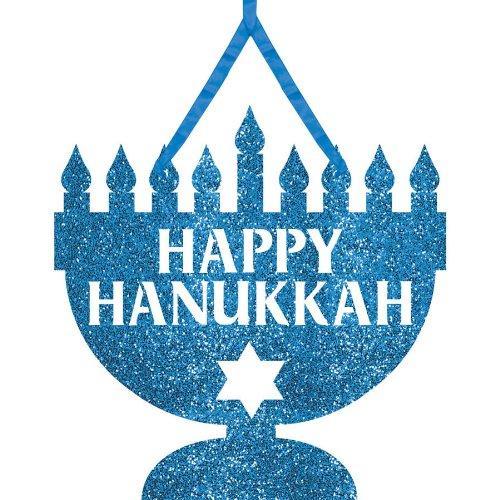 Hanukkah Glitter Sign