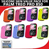 Silicone Skin 8 pc. Value Pack for your Palm Treo Pro 850 (Blue, Hot Pink, Light Pink, Green, Orange, Purple, Red, Yellow) Bonus DBRoth Microfiber Cleaning Cloth Included