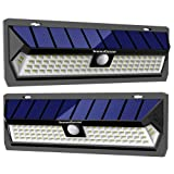 InnoGear 80 LED Solar Lights Outdoor with Wide Lighting Area Wireless Motion Sensor Security Night Light Wall Sconce Lamp Waterproof for Front Door Back Yard Driveway Garage Patio and Garden(2 Pack) (Color: Black, Tamaño: large)