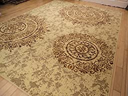 Large Modern Rugs for Living Room 8x11 Beige Tan Brown Black Cream Contemporary Rugs 8x10 Area Rugs Clearance Under 100 (Large 8\'x11\' Rug)
